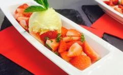 Hugo Erdbeer Salat