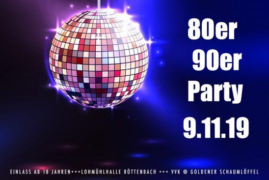 80er 90er Party am 9.11.19